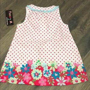Penelope Mack Penny M Dress Girls Pretty GREEN Bright Pink WHITE Floral Dress